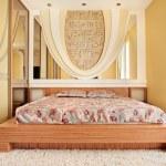 Bedroom in warm tones — Stock Photo #1052418
