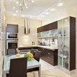 Stock Photo: Modern Kitchen interior in warm tones