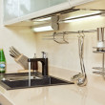 Modern Kitchen interior with Sink — Stock Photo