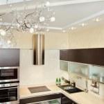Modern Kitchen interior in warm tones — Stock Photo