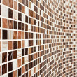 Stock Photo: Wall with brown mosaic pattern