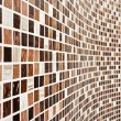 Wall with brown mosaic pattern - Stok fotoraf