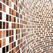 Wall with brown mosaic pattern — Stock Photo
