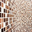 Royalty-Free Stock Photo: Wall with brown mosaic pattern