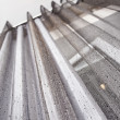 Stock Photo: Gray metallic Curtain