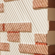 Stock Photo: Brickwork Wall striped by sunlight