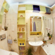 Stock Photo: Modern Bathroom in yellow and blue vivid