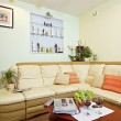 Part of Drawing-room Interior in beige — Stock Photo