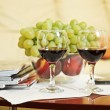 Composition with two wineglasses — Stock Photo