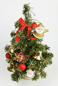 Decorated Christmas tree on white — Стоковое фото