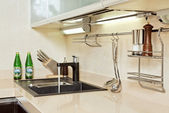 Modern Kitchen interior with Sink — Stock Photo