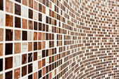 Wall with brown mosaic pattern — Foto de Stock