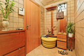 Elegance anteroom interior in warm tones — Stock Photo