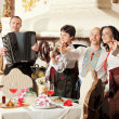 Ukrainian ethnic music band concert - Stock Photo