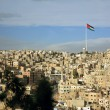 Amman city view with a flag, Jordan — Stock Photo