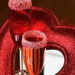 Valentine day red cocktail - Stock fotografie