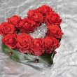 Valentine day rose decoration bouquet — Stock Photo