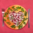 Royalty-Free Stock Photo: Valentine day salad with beef