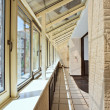 Long balcony (gallery) interior - Stock Photo