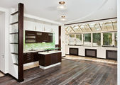Modern drawing room and Kitchen interior — Foto de Stock