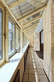 Long balcony (gallery) interior — Stock Photo