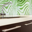 Part of modern Kitchen with sink - Stock Photo