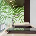现代厨房室内装饰的一部分 — 图库照片