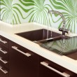 Part of modern Kitchen with Sink — Stock Photo #2089629