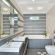 Modern bathroom in blue and gray — Stock Photo #2189907