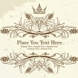 Royalty-Free Stock Vector Image: Vintage frame with crown.