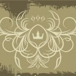Vintage decor with crown. — Vector de stock