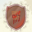 Royalty-Free Stock Vector Image: Abstract shield with sabby background