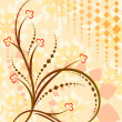 Abstract floral background - Stok Vektör
