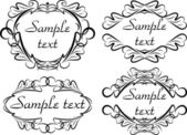 Vier klassischen dekor frames — Stockvektor