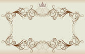 Vintage frame with crown. — Stock Vector