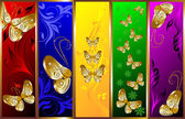 Decorative background with butterflies — Stock Vector