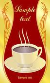 Vitage coffee label — Stock Vector