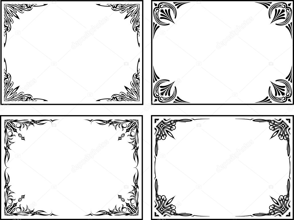 Four classical decor frames. — Stock Vector #1073097