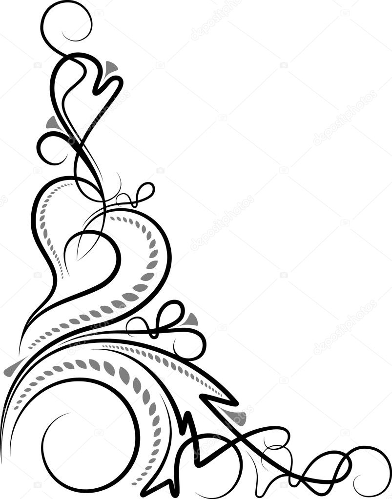 Original decorative corner  — Imagen vectorial #1074894