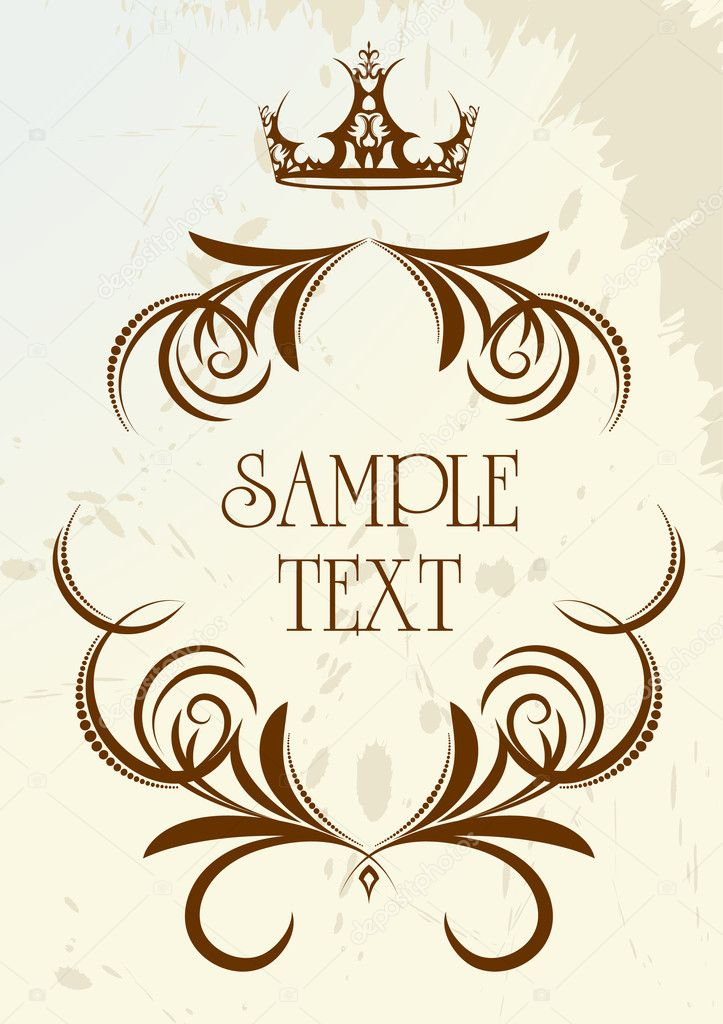 Vintage frame with crown.  — Stock Vector #1075013