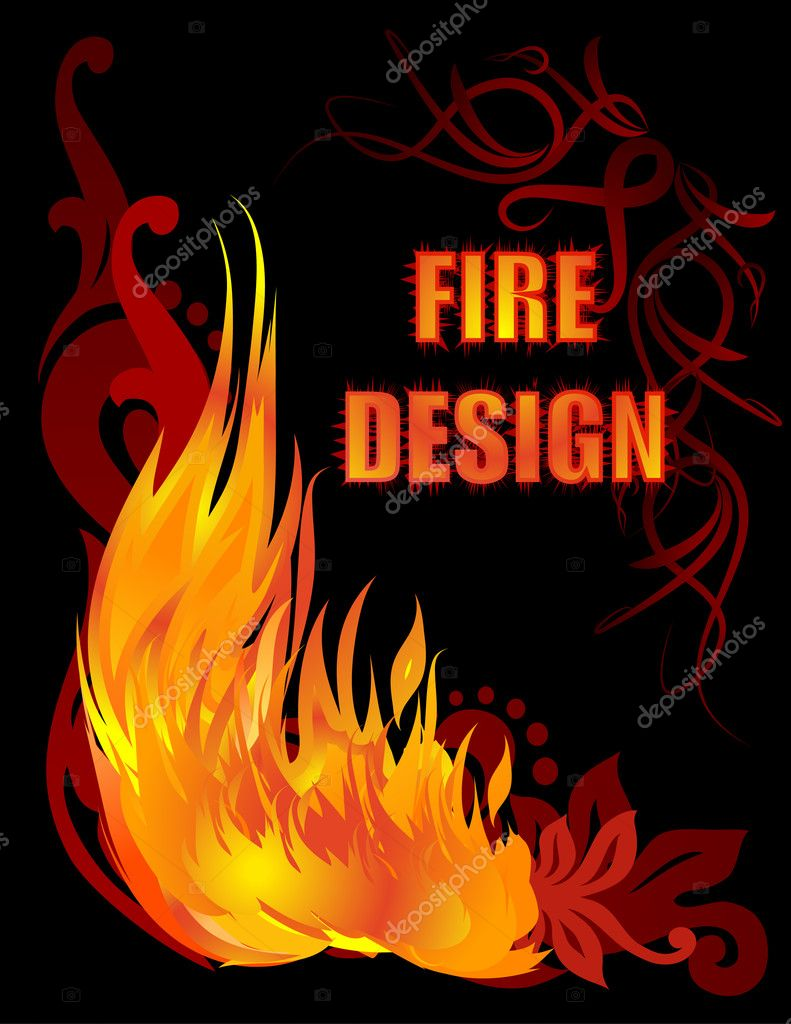 Blazing corner  Stock Vector #1079482