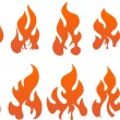 Collection of vector fires. — Stock Vector