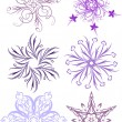 Six  of exelent vector snowflakes — Stock Vector