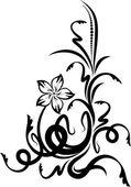 Oorspronkelijke floral hoek. — Stockvector