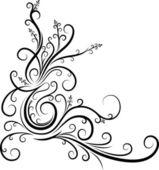 Esquina floral original. — Vector de stock