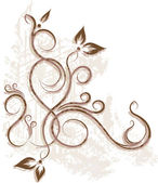 Floral corner. Vector illustration. — Stock Vector