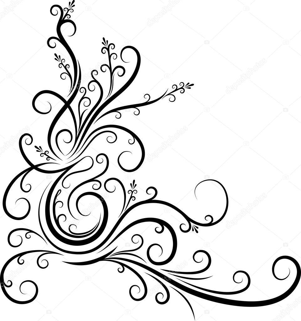 Corner Scroll Designs: Stock Vector © Antonshpak #1092450
