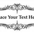 Elegant frame for text — Stock Vector