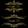 Royalty-Free Stock Vektorfiler: Vintage vector background in gold and black gamma.