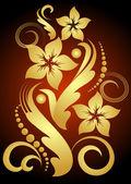 Flor de oro — Vector de stock
